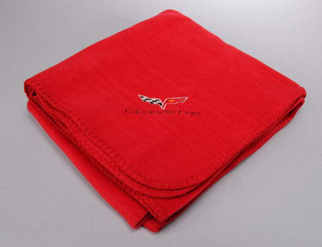 Purchase 2005 2012 Corvette C6 Red Fleece Blanket New